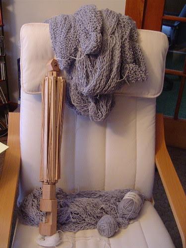 frogged yarn, ready to wash
