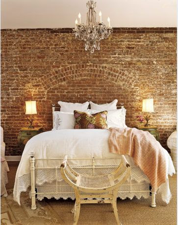 Favorite Brick Wall in Bedroom | Friday Favorites on www.andersonandgrant.com