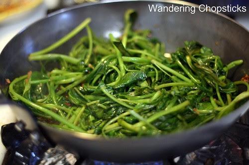 Kangkong Belacan (Malaysian Stir-Fried Water Spinach with Shrimp Paste) 6