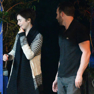New Couple Alert? Lily Collins & Chris Evans Spotted on Romantic ...