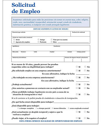 image regarding Printable Job Application in Spanish named 24 [pdf] Work Software NJ TEMPLATE PRINTABLE High definition