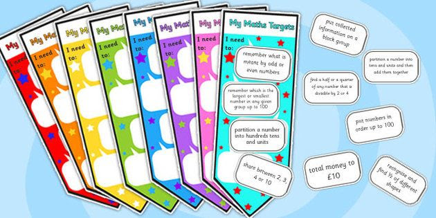 Level 2 Maths Assessment Bookmarks and Target Stickers - level 2 ...