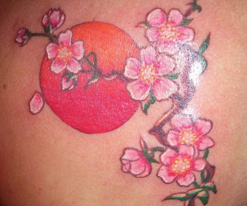Fancy Japanese Cherry Blossom Tattoo Designs Tattoomagz