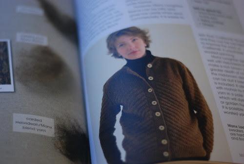 Sue Blacker Pure Wool Manx chevron sweater Rita Taylor