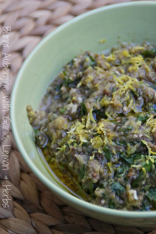 Burnt Aubergine with Garlic, Lemon & Herbs 3
