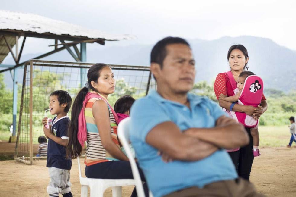 Miembros de la comunidad indígena shuar, en la provincia de Morona Santiago.