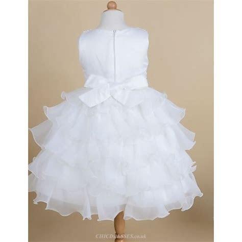 Princess Tea length Flower Girl Dress   Satin/Tulle
