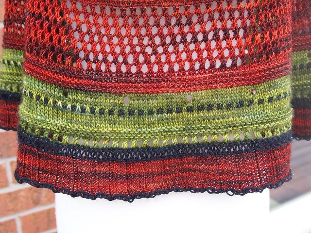 test knit-Misae shawl