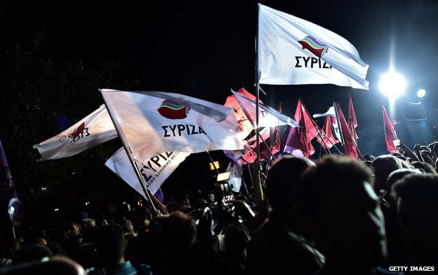 Greek Syriza supporters in May 2014