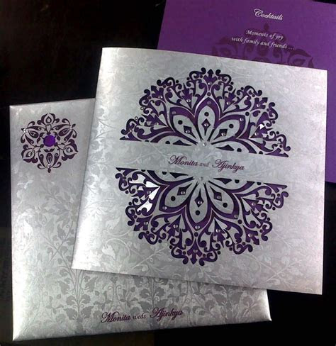 A white and purple jacquard design card   create   Pinterest