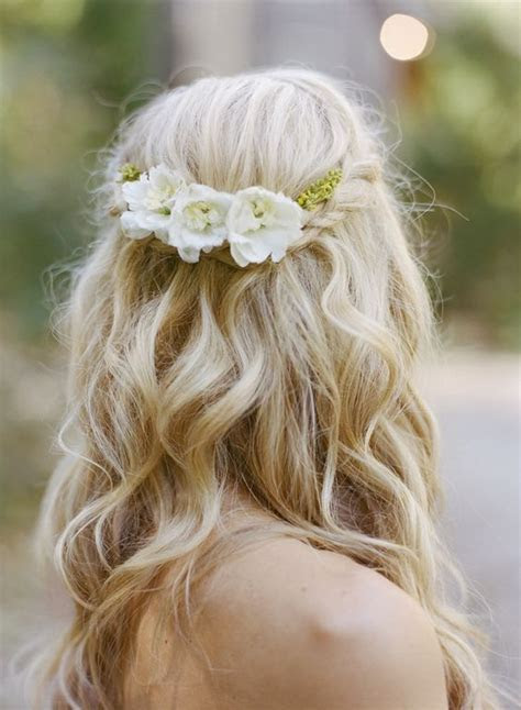 loose half up braid wedding hairstyle   photo