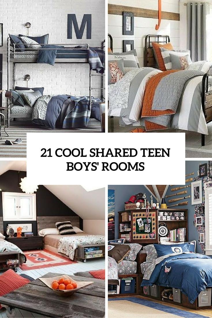 21 Cool Shared Teen Boy Rooms Décor Ideas - DigsDigs