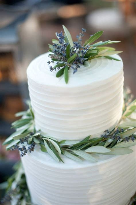 Lavender olive branch wedding cake   One Special Day