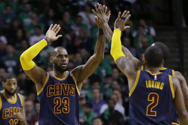 9f44bce1ffb LeBron James fuels rumors of reunion by singing  Rewind  to Kyrie Irving