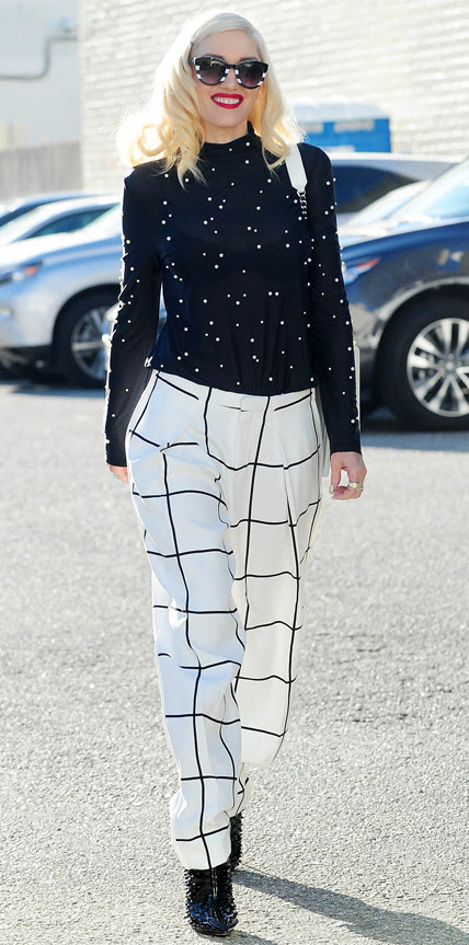 Gwen StefaniHollywood and Fashion Style Stars - My 5 Best Dressed 1/9/2014