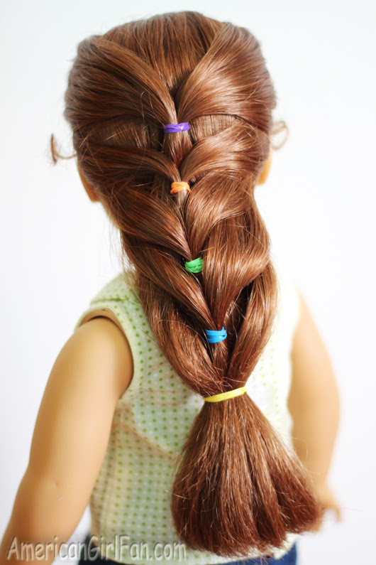 Doll Hairstyle: Rainbow French Ponytail! (AmericanGirlFan)