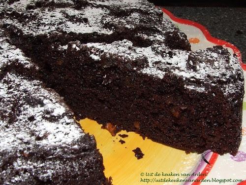 Chocoladecake met gekonfijte gember