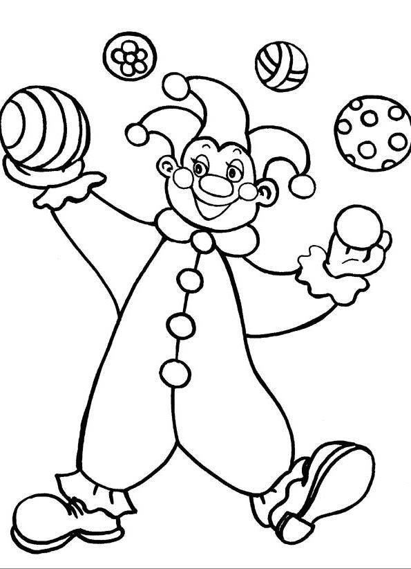 ausmalbilder clowns ausdrucken  ausmalbilder