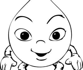 Taze Su Damlasi Boyama Yazdırılabilir Boyama Sayfaları