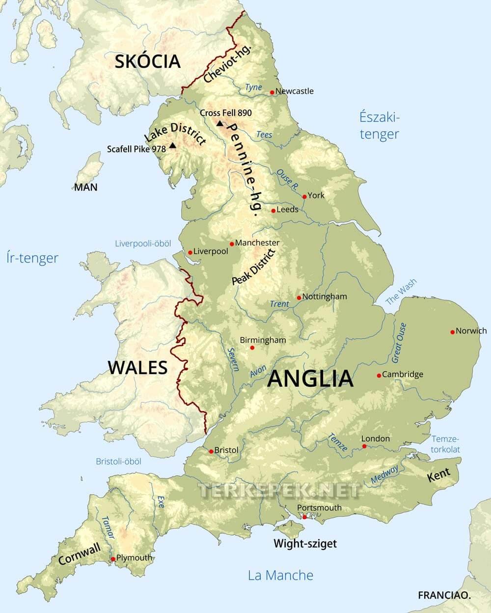 nagy-britannia térkép Nagy Britannia Térkép   Térkép