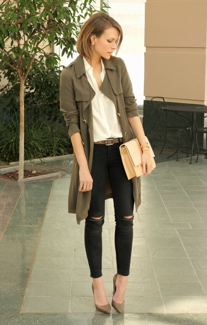 olive green trench coat  wardrobemag