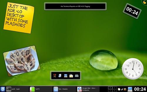 Plasmoids on KDE 4.0