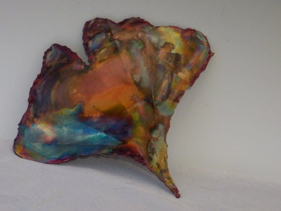 COPPER GINKGO LEAF: wall decormetal by DONPOFFSCULPTURES ...