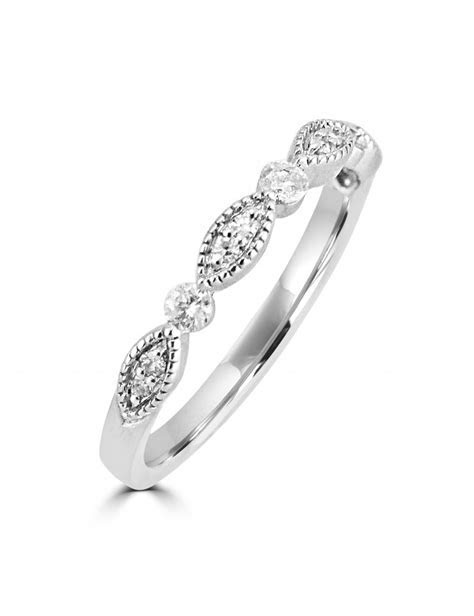 1/5ct Round Diamond 10k White Gold Marquise and Dot