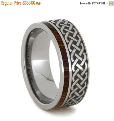 wedding sale titanium  ironwood eternity band