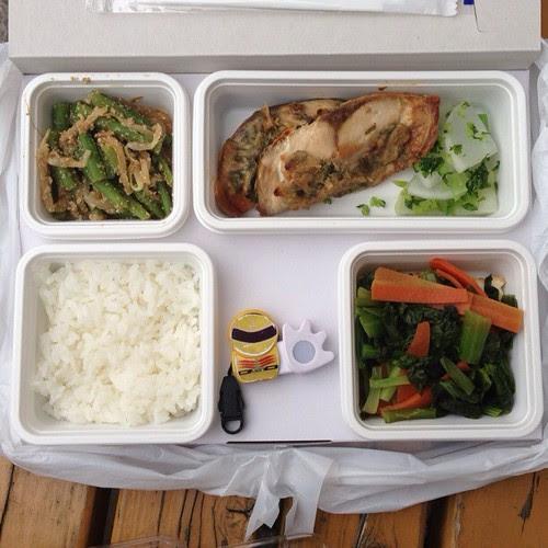 タニタ食堂のお弁当。さばのねぎ味噌焼き弁当、496kcal・塩分2.6g。