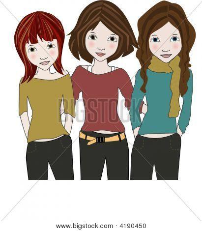 Cartoon Image Cartoon Images Of Three Best Friends