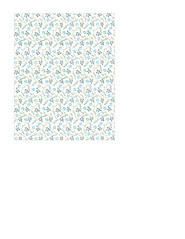 11d LIGHT antique blue painted wallpaper flowers SMALL SCALE - A2 card size PORTRAIT or VERICAL
