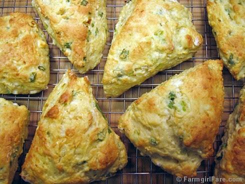 Savory cheese and scallion scones - Farmgirl Fare