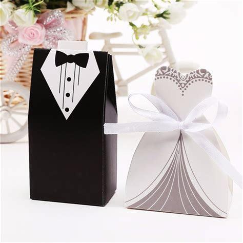 100Pcs Bridal Gift Cases Groom Tuxedo Dress Gown Ribbon