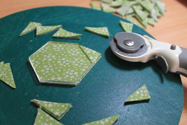 Cutting the hexagons
