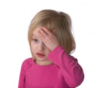 A child with a headache