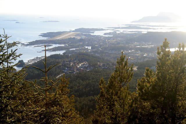 Utsikt fra åsen