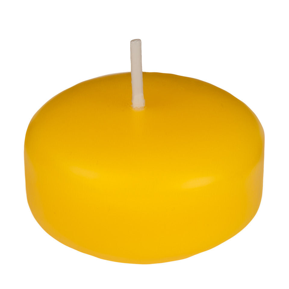 2 Inch Yellow Floating Candles