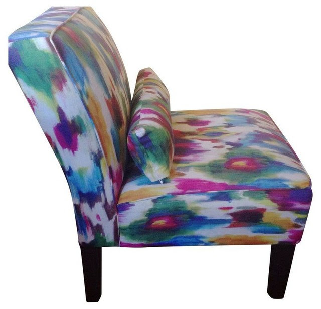 MultiColored Accent Chairs  A Pair  Contemporary