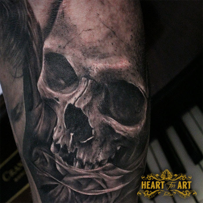 Black And Grey Skull Tattoojpg Portfolio Heart For Art Tattoo