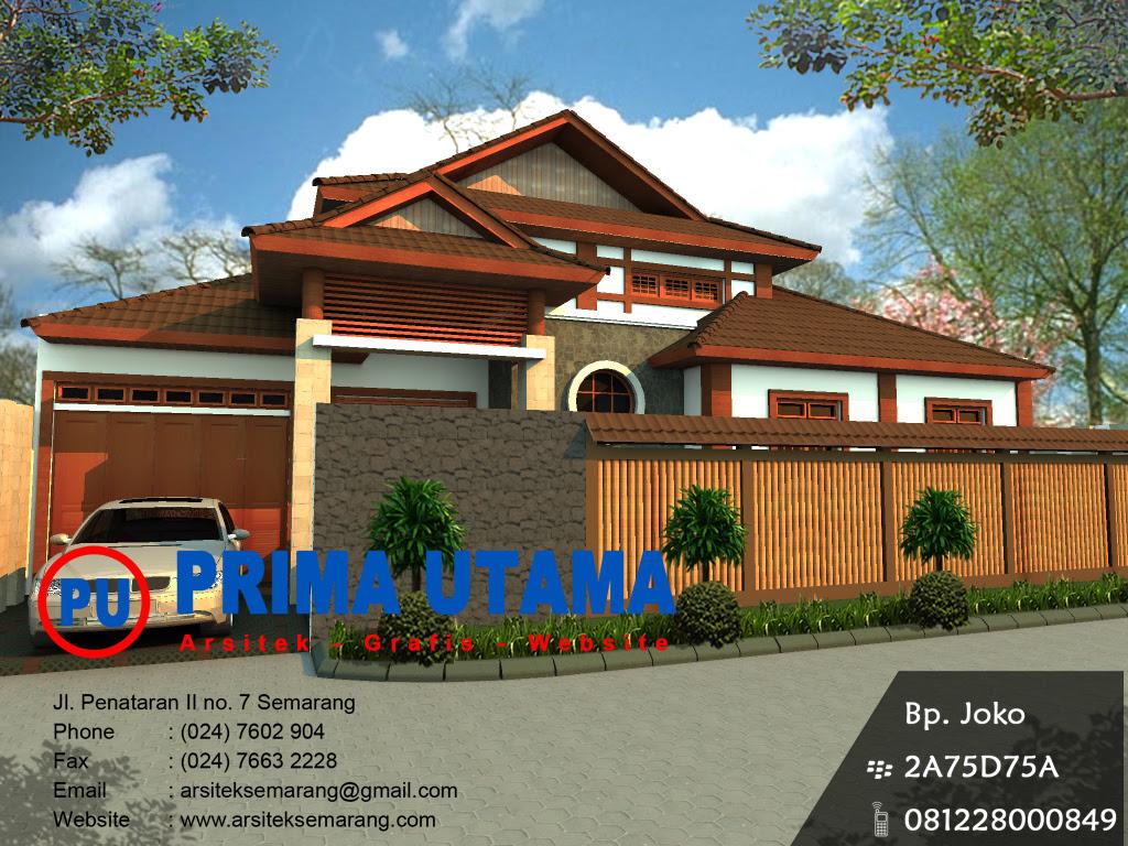 Desain Rumah Minimalis Etnik Jawa