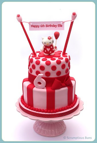 Hello Kitty Stacked Cake by Scrumptious Buns (Samantha)