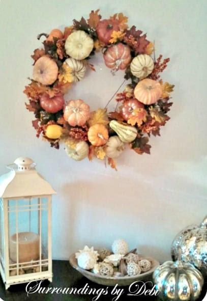 How to make a Pottery Barn inspired harvest wreath