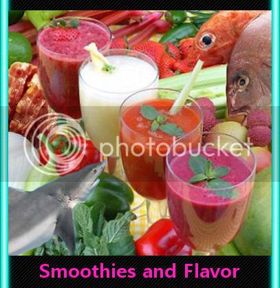 fish shark smoothie veggies fruit
