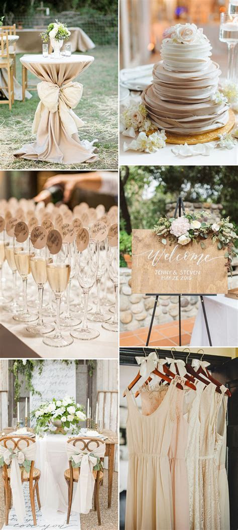 Vintage Wedding Themes Ideas With a Neutral Color Scheme