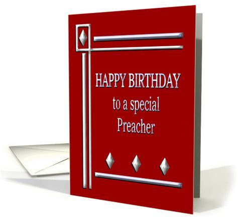 Happy Birthday Preacher Red and Silver card (1363314)