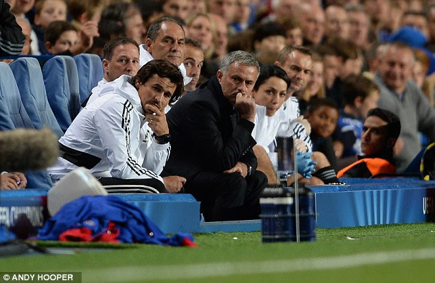Not pretty watching: Jose Mourinho suffered only his second ever defeat at Stamford Bridge