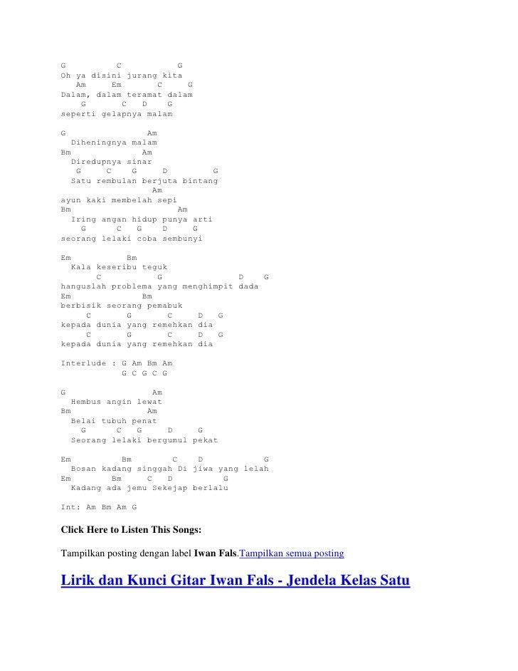 Chord Lagu Tampomas Iwan Fals