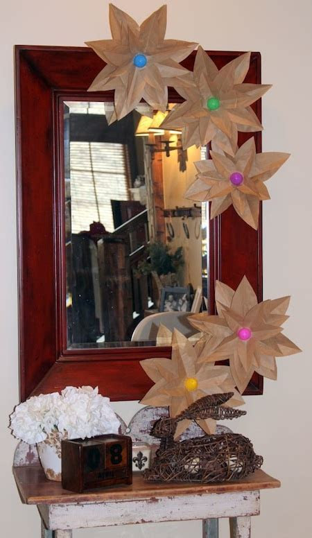 brown paper flowers for easter