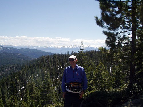 Carl on Tahoe Rim Trail climbing up from Spooner